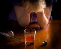 Alcoholic Nightmare Royalty Free Stock Image