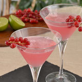 Alcoholic pink cocktail. Stock Photos