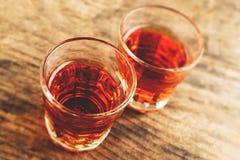Alcoholic shot - tilt shift selective focus Stock Images