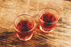 Alcoholic shot - tilt shift selective focus Stock Photos