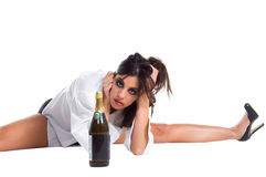 Alcoholic Woman Stock Photography
