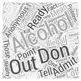 Alcoholics anonymous 24 word cloud concept  background. Text Stock Images