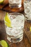Alcoholisch Jenever en Tonicum stock foto's