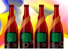 alcoholische drank fles vector illustratie