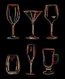 Alcoholische dranken Stock Afbeeldingen