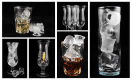 Alcoholische drankencollage stock afbeelding