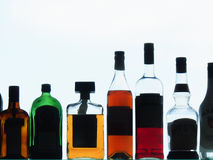 Alcoholische drankflessen Royalty-vrije Stock Fotografie