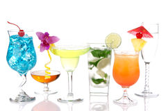 Alcoholische mojito van Margarita Martini van Cocktails Royalty-vrije Stock Fotografie