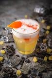 Alcoholische of niet-alkoholische cocktail met citroencitrusvrucht en gember met toegevoegde likeur, wodka, champagne of martini royalty-vrije stock afbeeldingen