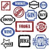 Alcoholische zegels Royalty-vrije Stock Foto's