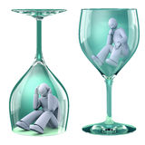 Man in glass Royalty Free Stock Images