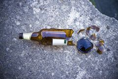 Alcoholism concept Royalty Free Stock Photography
