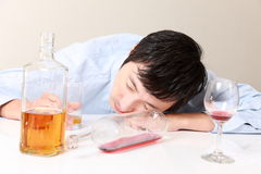 Alcoholism Royalty Free Stock Images