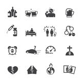 Alcoholism icons set. Royalty Free Stock Photo