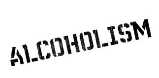 Alcoholism rubber stamp. Grunge design with dust scratches. Effects can be easily removed for a clean, crisp look. Color is easily changed Stock Images