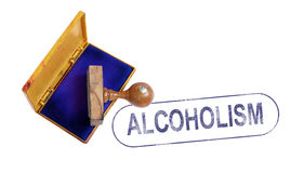 ALCOHOLISM Rubber Stamp Royalty Free Stock Photos