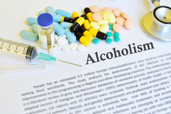 Alcoholism treatment Stock Photography