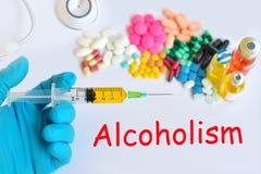 alcoholisme Royalty-vrije Stock Foto's