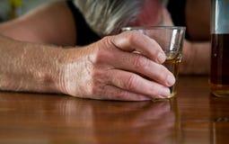 Alcoholismo Foto de archivo libre de regalías
