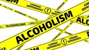 alcoholismo Cintas amonestadoras amarillas ilustración del vector