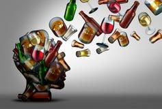 Alcoholvoorlichting en Onderwijs Stock Foto's