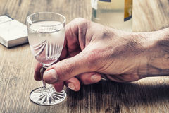 alcolismo Fotografie Stock