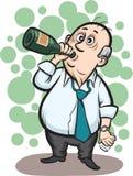 Alcool bevente dell'uomo d'affari illustrazione di stock