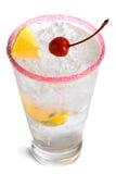 Alcool congelato con calce e la ciliegia 4 Immagini Stock