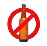 Alcool d'arrêt de signe Images libres de droits