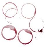 Alcool della bevanda della bevanda dell'alimento del gruppo delle macchie del vino Fotografia Stock