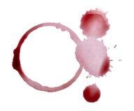 Alcool della bevanda della bevanda della macchia della macchia del vino Fotografia Stock Libera da Diritti