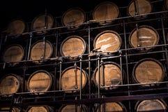 Alcool di legno del barilotto Fotografia Stock