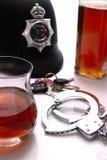 Alcool e la legge Immagini Stock Libere da Diritti