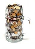 Alcool et argent Photographie stock