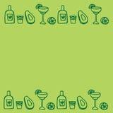 Alcool messicano - tequila, margarita Fotografia Stock