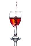 Alcool rosso Immagine Stock