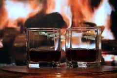 Alcool in un vetro Immagine Stock