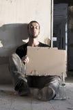 Alcoolique de mendiant Image stock