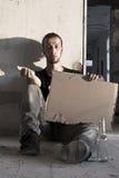 Alcoolique de mendiant Image libre de droits