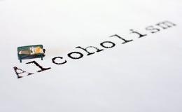 Alcoolisme Photographie stock libre de droits