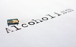 Alcoolismo Fotografia de Stock Royalty Free