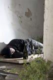 Alcoolizzato addormentato Fotografie Stock