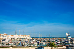 Alcossebre alcoceber marina port in Castellon Spain Stock Photo