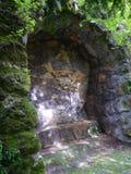 Alcova coberto de vegetação na rocha Fotografia de Stock