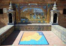 Alcove of Almeria. Aloove of Almeria: Plaza de España, Seville Royalty Free Stock Photography