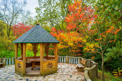 Alcove in the autumn garden Royalty Free Stock Photo
