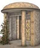 Alcove 3D. 3D render of an alcove with domed roof, patterns and ivy Stock Photo