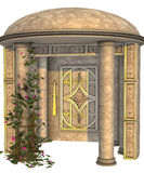 Alcove. 3D render of an alcove with domed roof, patterns and ivy Royalty Free Stock Photos