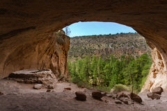 Alcove House, Bandelier National Monument. Alcove House, ancient cave dwellings, Bandelier National Monument, NM Stock Photo