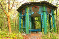 Alcove  in the park. Garden house  , Arbour  in a beautiful park on the Dnieper Royalty Free Stock Photography